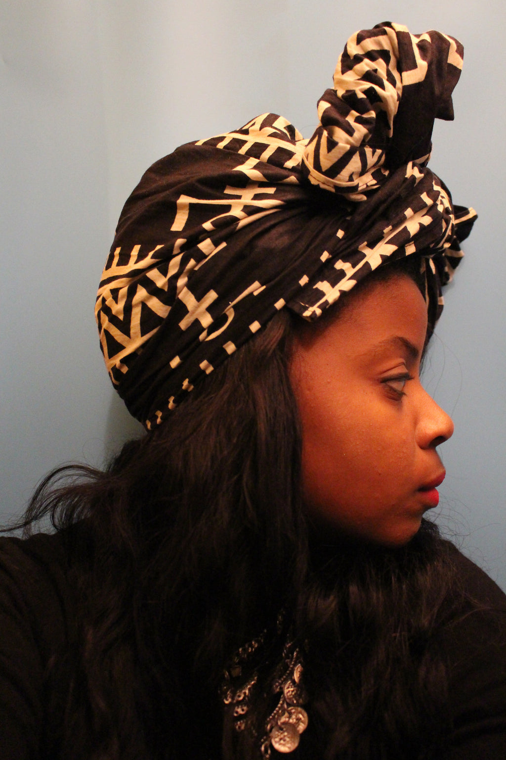 Queen's Crown Headwrap in Jambaar - shopdraped