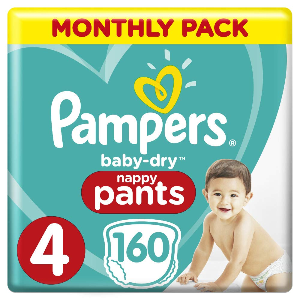 Pampers Monthly Pack Nappy Pants Size 4 Toddler (9kg - 15kg) 160 Nappies - Stay at Home Mum.com.au
