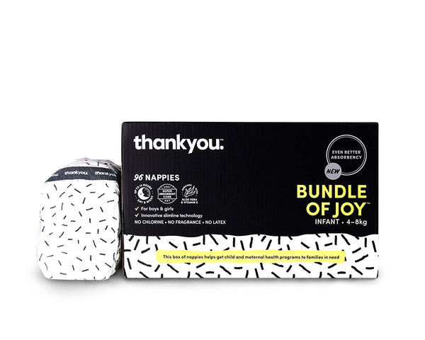 Thankyou Baby Nappies Infant (4-8kg) Total 96 Nappies - Stay at Home Mum.com.au