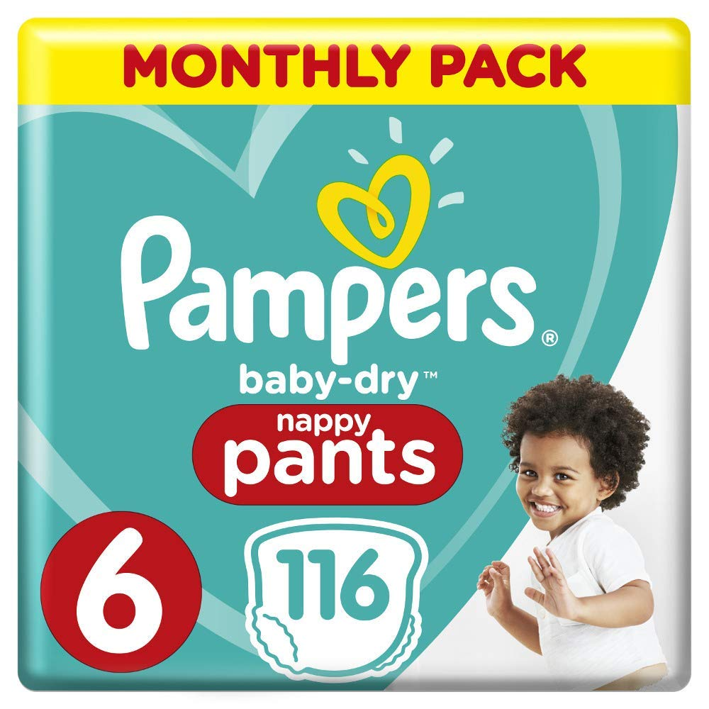 Pampers Nappy Pants - Monthly Pack (116 Nappies) Size 6 (15kg +) - Stay at Home Mum.com.au