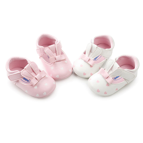The Pink and White Bunnies Toddlers First Walking Shoes - Stay at Home Mum.com.au