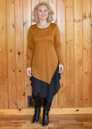 Destiny Sheer Tunic Brown - Madam Gypsy