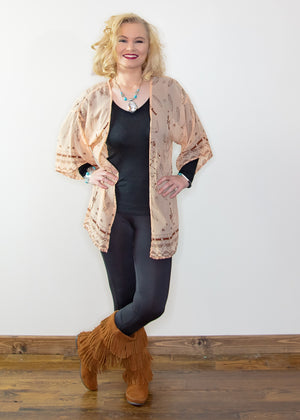 Bullhead Dream Catcher Kimono - Madam Gypsy