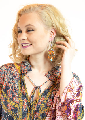 Marigold Aura Chandelier Earrings - Madam Gypsy