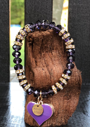 Love Me Tender Crystal Bead Collection - Purple - Madam Gypsy