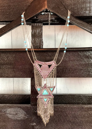 Day Dreamer Turquoise Pendant Necklace - Madam Gypsy