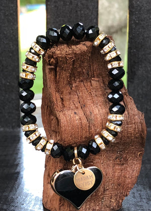 Love Me Tender Crystal Bead Collection - Black - Madam Gypsy