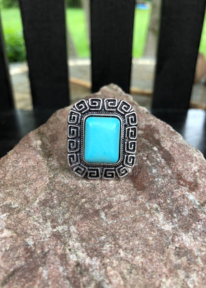 Turquoise Ring - Square - Madam Gypsy