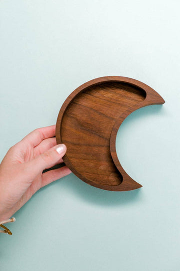 Moon Tray | Walnut | Lava Essentials
