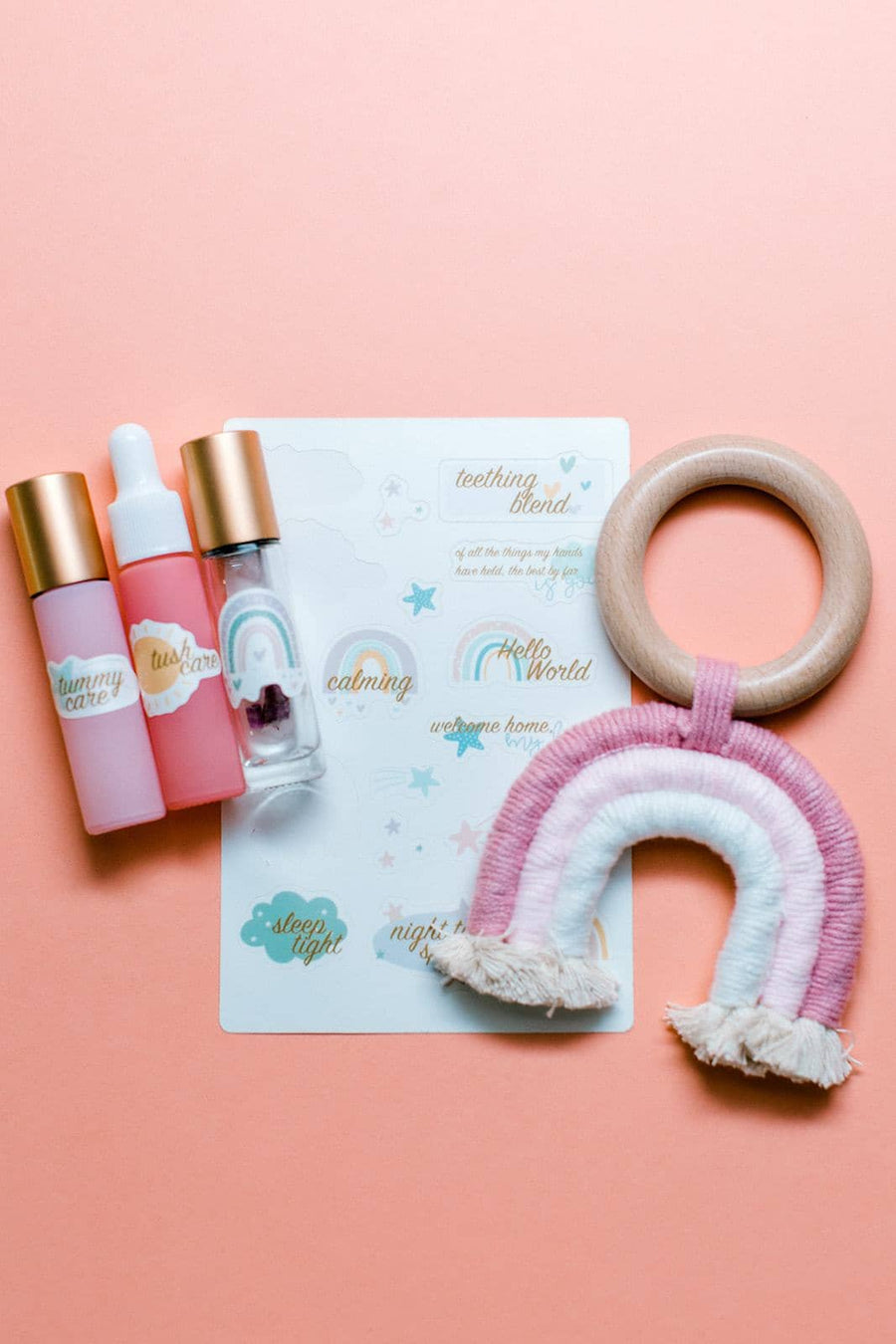 Hello World Rainbow Set | Essential Oil Accessories For Baby