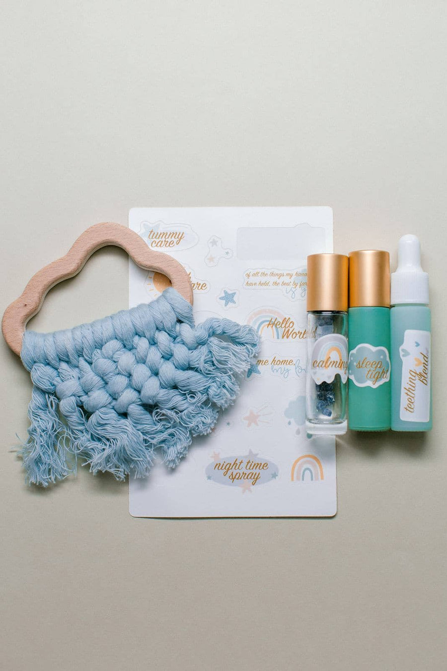Hello World Cloud Set | Essential Oil Accessories For Baby