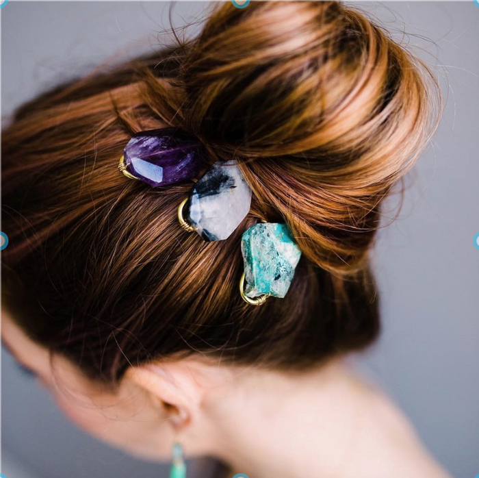 Gem Hair Pins: Holiday