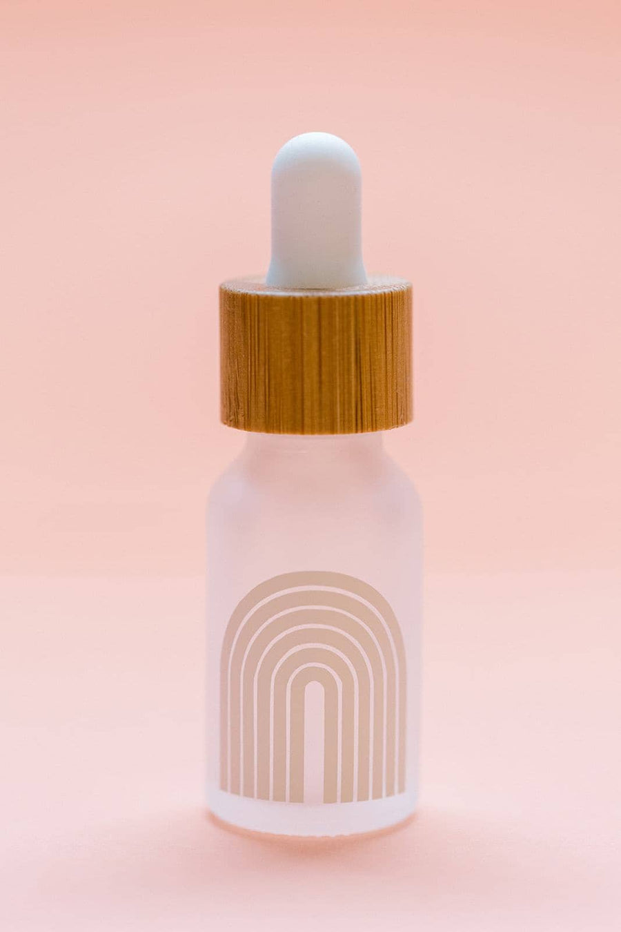 Rainbow Frosted Bamboo Dropper Bottle | 15ml