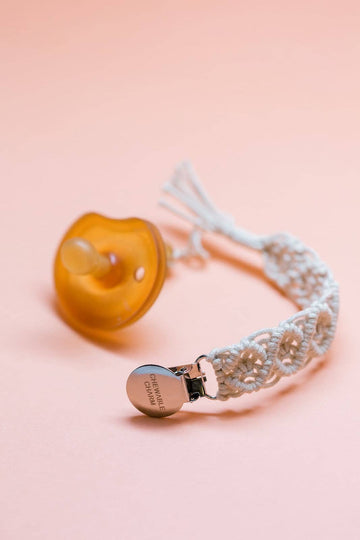 Essential Oil Diffusing Macrame Pacifier Clip