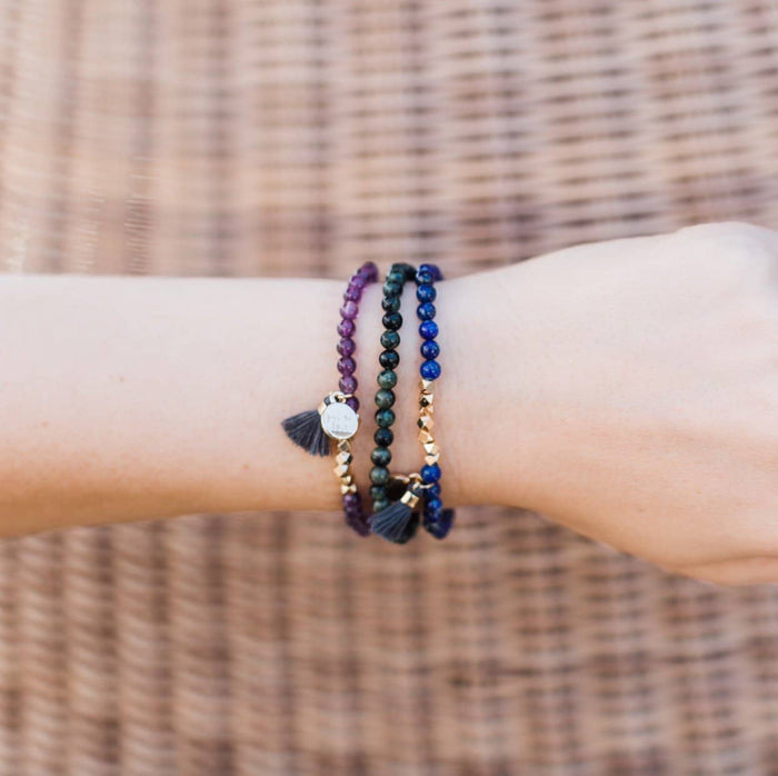 Gemstone Affirmation Bead Bracelets