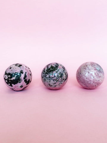 Rhodonite Crystal Sphere // Forgiveness + Self-Love
