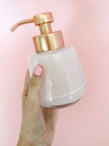 Rose Gold Foaming Hand Soap Dispenser Glass
