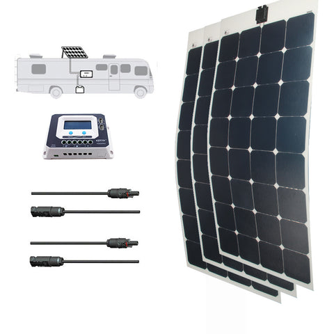 LINKSOLAR Solar kit 300watt solar panel with controller FOR RV/marine/yacht