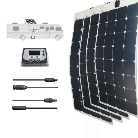 LINKSOLAR Solar kit 400watt solar panel with controller FOR RV/marine/yacht - Ncharger,LINKSOLAR