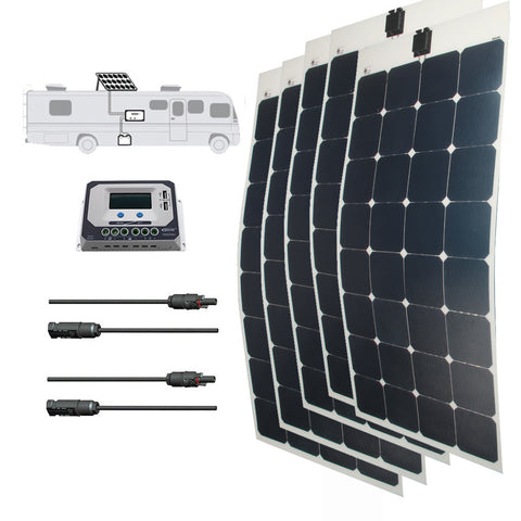 LINKSOLAR Solar kit 500 watt solar panel with controller FOR RV/marine/yacht - Ncharger,LINKSOLAR