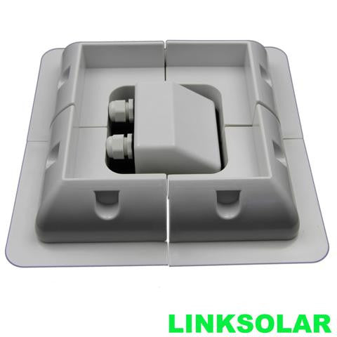 HEAVY DUTY SOLAR PANEL MOUNT KIT WITH CABLE Entry Solar bracket (WHITE/Black) - Ncharger,LINKSOLAR
