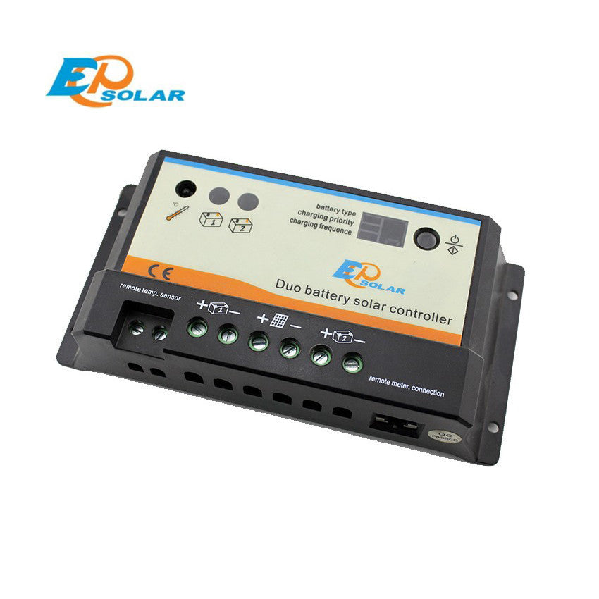 EPSOLAR EPIPDB-COM 10A 12V 24V EPEVER Dual Duo Two Battery Solar Charge Controller Regulators - Ncharger,LINKSOLAR