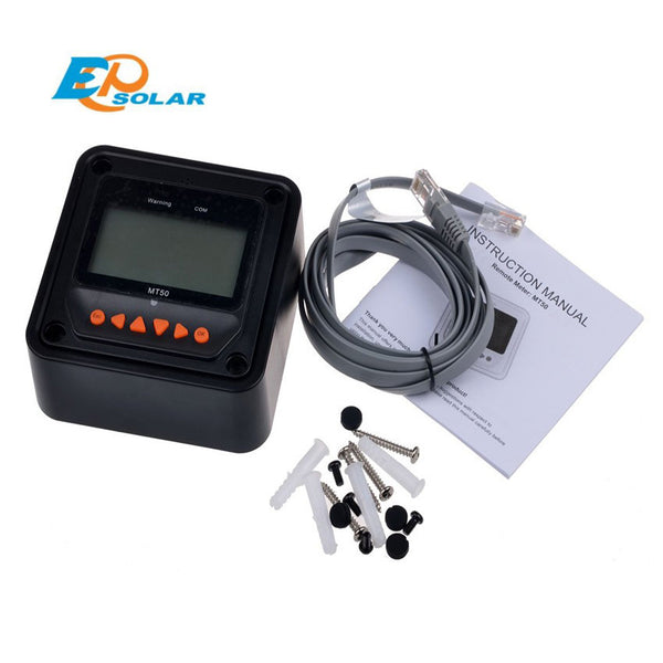 EPSOLAR MT50 remote meter LCD Display epever LandStar Viewstar Tracer solar controller Black color - Ncharger,LINKSOLAR