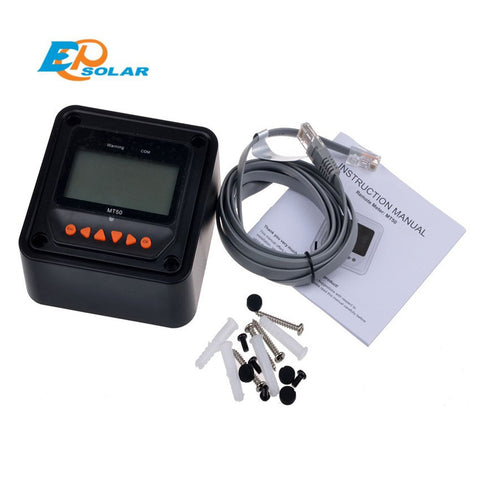 EPSOLAR MT50 remote meter LCD Display epever LandStar Viewstar Tracer solar controller Black color