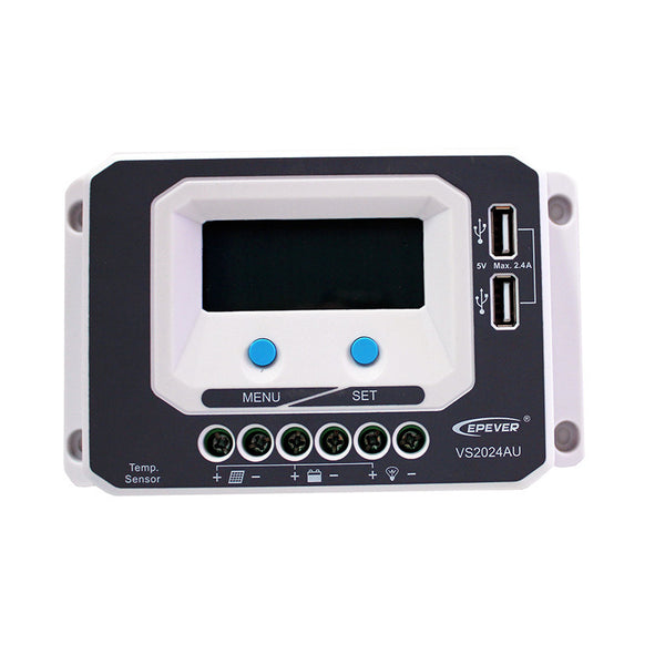 EPSOLAR VS2024AU 20A 12V 24V EP EPEVER New Viewstar Solar Charge controller LCD display - Ncharger,LINKSOLAR