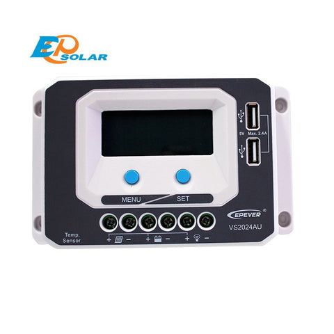 EPSOLAR VS2024AU 20A 12V 24V EP EPEVER New Viewstar Solar Charge controller LCD display