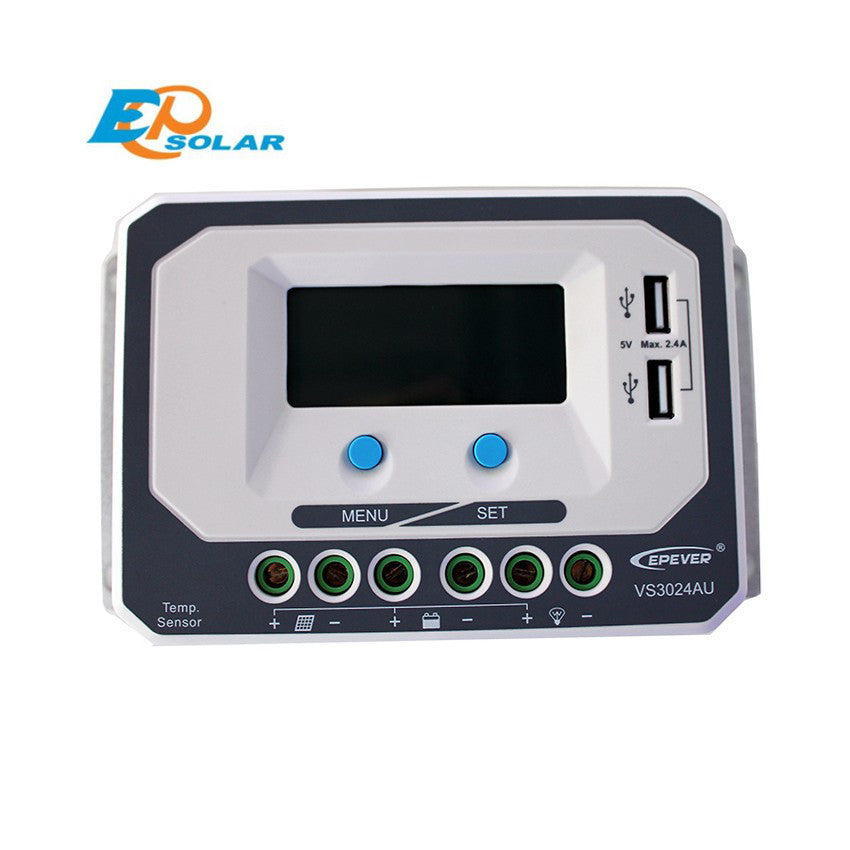 EPSOLAR VS3024AU 30A 12V 24V EP EPEVER New Viewstar Solar Charge controller LCD display - Ncharger,LINKSOLAR