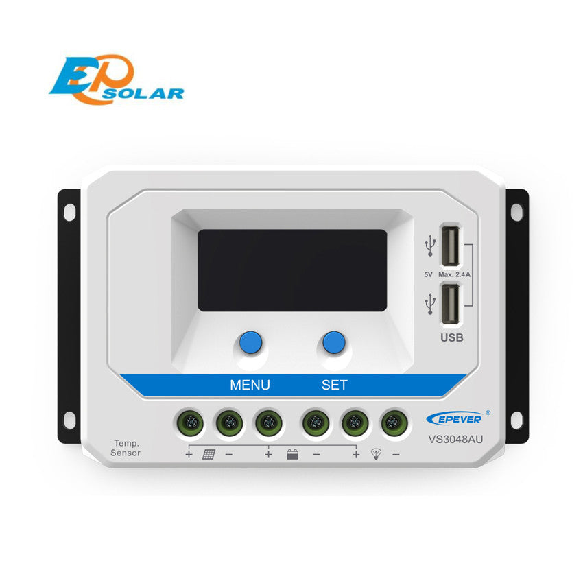 EPSOLAR VS3048AU 30A 12V 24V 36V 48V EP EPEVER New Viewstar Solar Charge controller LCD display - Ncharger,LINKSOLAR