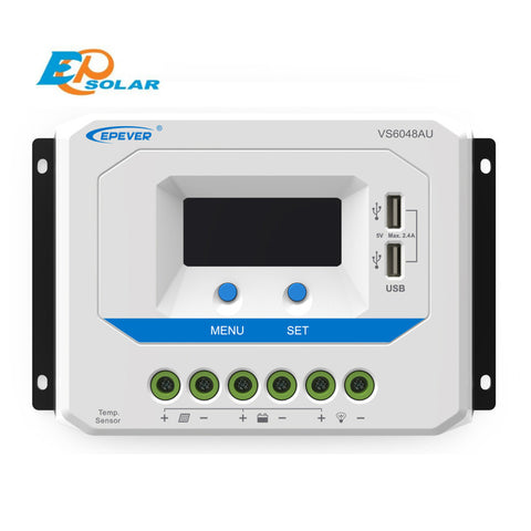 EPSOLAR VS6048AU 60A 12V 24V 36V 48V EP EPEVER New Viewstar Solar Charge controller LCD display - Ncharger,LINKSOLAR
