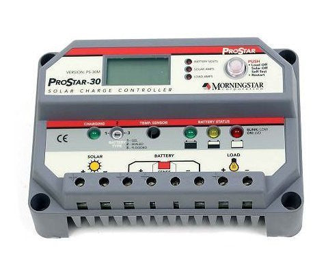 MorningSTAR PS-30M PWM BATTERY CHARGE SOLAR CONTROLLER 30A 12/24V - Ncharger,LINKSOLAR