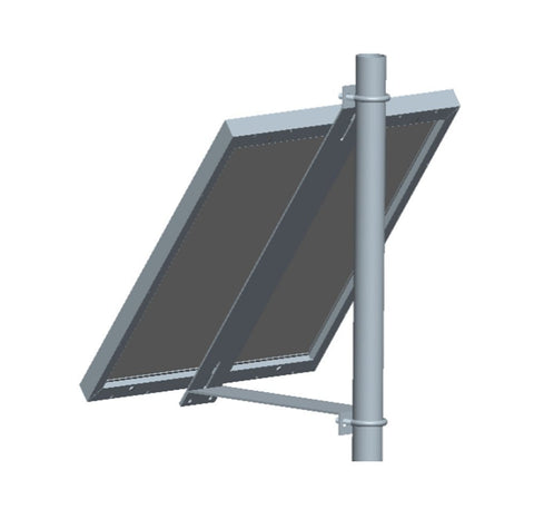 Universal Solar Panel Fixed Tilt Side-Of-Pole Rack Mounting Bracket Set, Solar Panels from 30W to 60W
