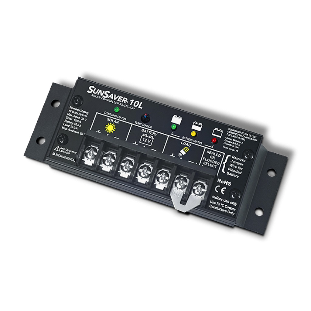 Morningstar Sunsaver Ss 20l 12v 10l 10a Or 20a Solar Charge Controller