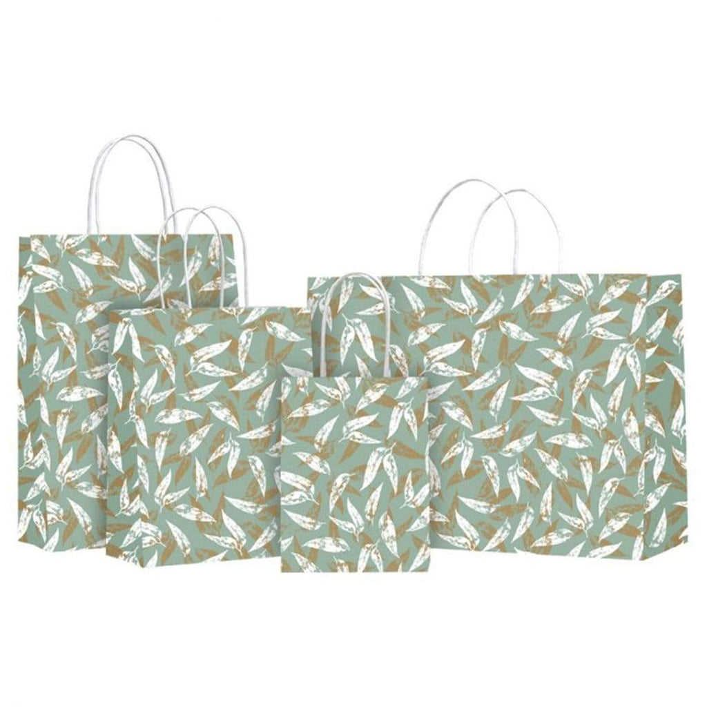 Gift Bags Eucalyptus and Gold Design