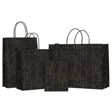 Gift Bags Onyx and Gold Design