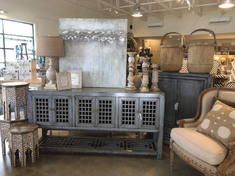Grey Distressed Sideboard