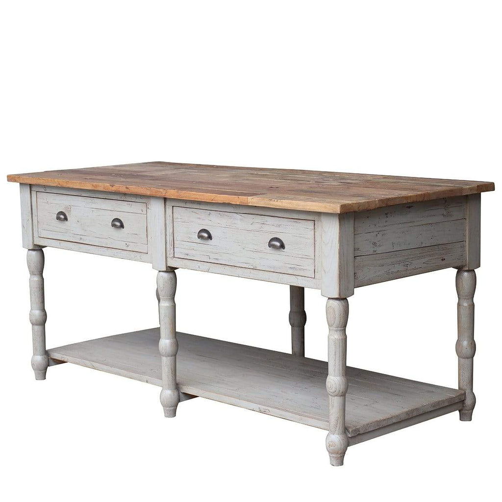 Old Elm Top Kitchen Island