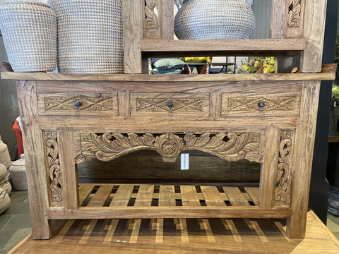 Carved Console Table with Drawers - Assorted Sizes