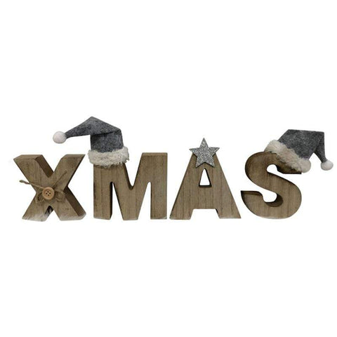 XMAS Sign 4PC 32x8cm