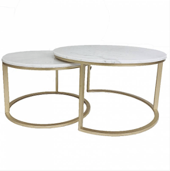 Eddie Champagne Marble Coffee Table