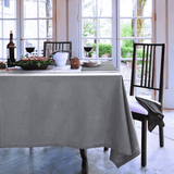 Elegant Hemstitch Tablecloth Grey