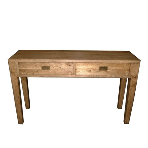 Oak 2 Drawer Hall Table