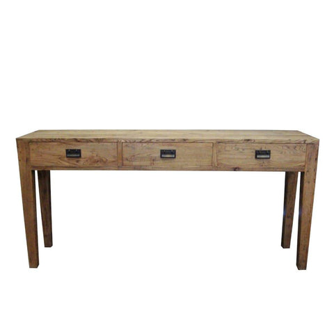 Oak 3 Drawer Hall Table