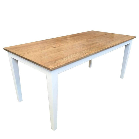 Oak Dining Table White Legs 2.4m