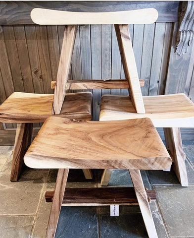 Wooden Saddle Stool