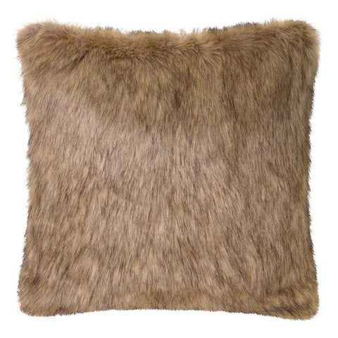 Grizzly Faux Fur Cushion 50x50cm Brown