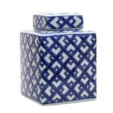 Lattice Blue and White Jar 20cm